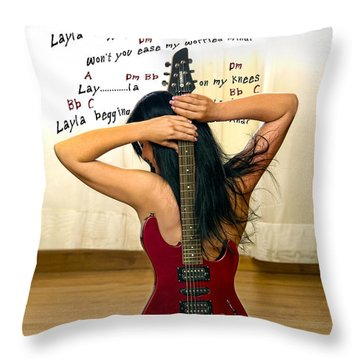 Layla Throw Pillow by Donovan Torres