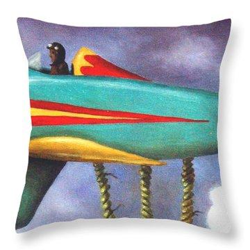 Lazy Bird Plane Detail Throw Pillow by Leah Saulnier The Painting Maniac