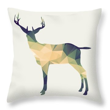 Le Cerf Throw Pillow by Taylan Soyturk