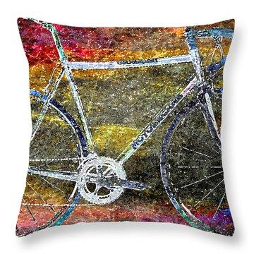 Le Champion Throw Pillow by Julie Niemela
