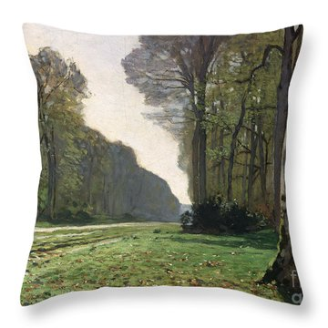 Le Pave De Chailly Throw Pillow by Claude Monet