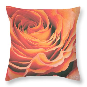 Le Petale De Rose Throw Pillow by Angela Doelling AD DESIGN Photo and PhotoArt