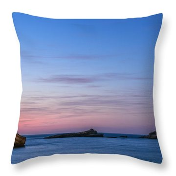 Throw Pillow featuring the photograph Le Phare De Biarritz by Thierry Bouriat