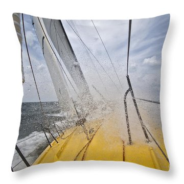 Le Pingouin Charging Upwind Throw Pillow by Dustin K Ryan