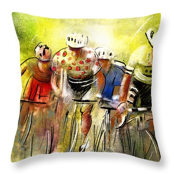 Le Tour De France 07 Throw Pillow by Miki De Goodaboom