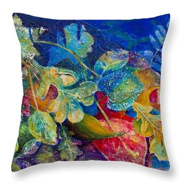 Leafin An Imprint Throw Pillow by Jo-Anne Gazo-McKim
