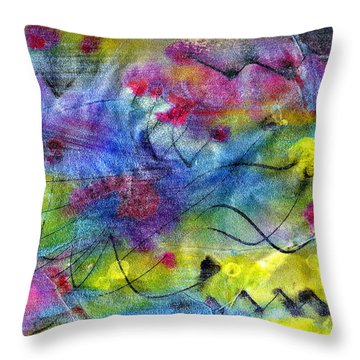 Leap Of Faith Throw Pillow by Don  Wright