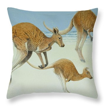 Leaping Ahead Throw Pillow by Pat Scott