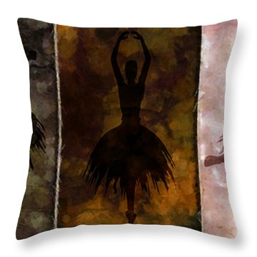 Learning The Steps Throw Pillow by Angelina Vick