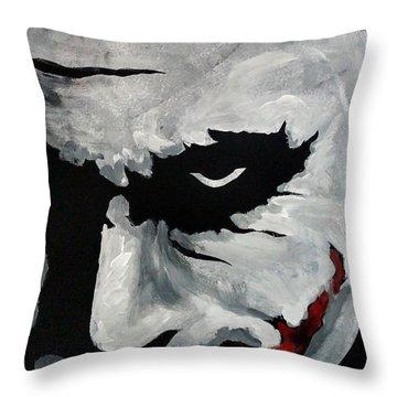 Ledger's Joker Throw Pillow by Dale Loos Jr