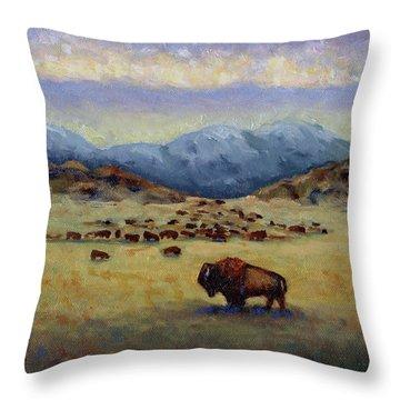 Legend Throw Pillow by Linda Hiller