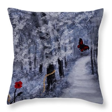 Legend Of A Girl Child Throw Pillow by Stanza Widen