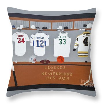 Legends Of New England Throw Pillow by Dennis ONeil