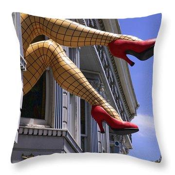 Legs Haight Ashbury Throw Pillow by Garry Gay