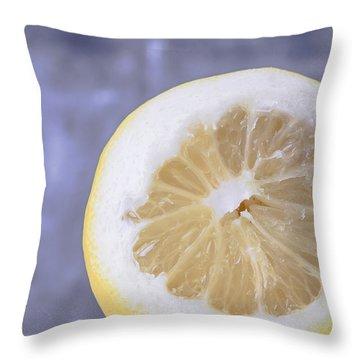 Lemon Half Throw Pillow by Edward Fielding