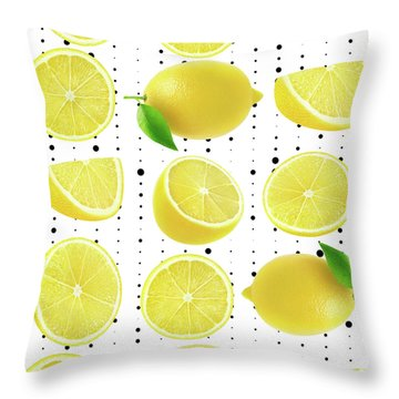 Lemon  Throw Pillow by Mark Ashkenazi
