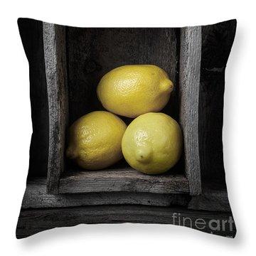 Lemons Still Life Throw Pillow by Edward Fielding