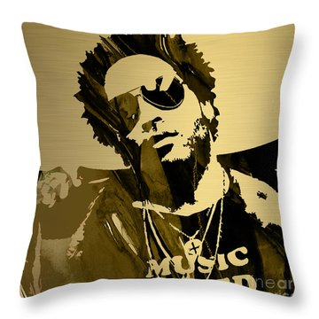 Lenny Kravitz Collection Throw Pillow by Marvin Blaine