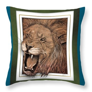 Leo Throw Pillow by Jim Turner
