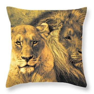 Leones Throw Pillow by Joachim G Pinkawa