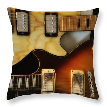 Les Paul - Come Together Throw Pillow by Bill Cannon