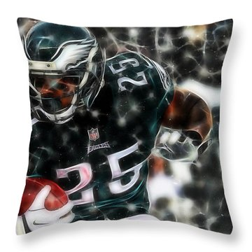 Lesean Mccoy Collection Throw Pillow by Marvin Blaine