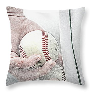 Lets Try Two Throw Pillow by Alan Look