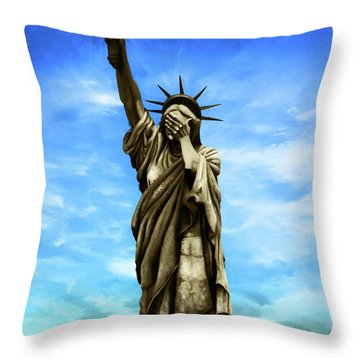 Liberty 2016 Throw Pillow by Kd Neeley