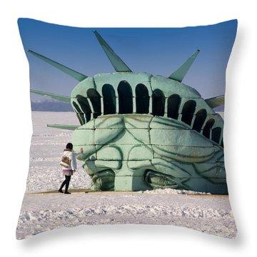 Liberty Throw Pillow by Linda Mishler