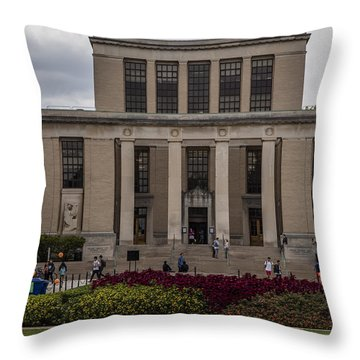 Library At Penn State University  Throw Pillow by John McGraw