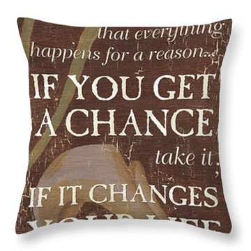 Life Is.... Throw Pillow by Debbie DeWitt