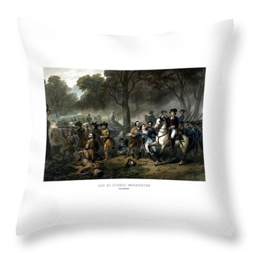 Life Of George Washington - The Soldier Throw Pillow by War Is Hell Store