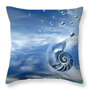 Life Throw Pillow by Jacky Gerritsen