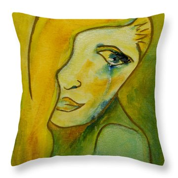 Life Unlived Throw Pillow by Donna Blackhall