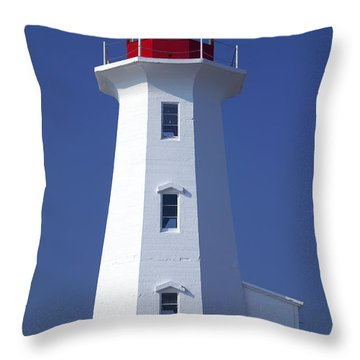 Lighthouse Peggy's Cove Throw Pillow by Garry Gay