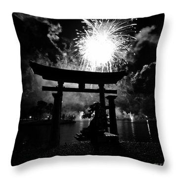 Lights Over Japan Throw Pillow by David Lee Thompson