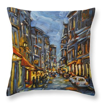 Lights Up After Dusk Throw Pillow by Richard T Pranke