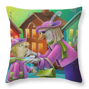 Like Mother Like Daughter Throw Pillow by Eva Folks
