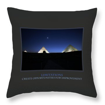 Limitations Create Opportunities For Improvement Throw Pillow by Donna Corless