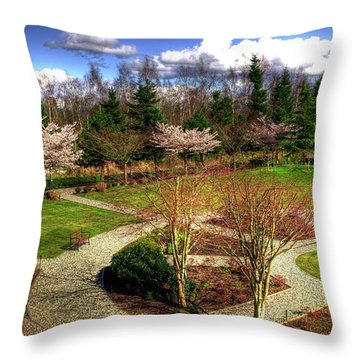 Lingyen Mountain Temple 18 Throw Pillow by Lawrence Christopher