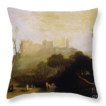 Linlithgow Palace Throw Pillow by Joseph Mallord William Turner