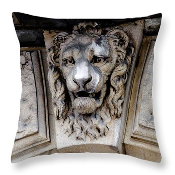 Lions Head Throw Pillow by Tony Grider