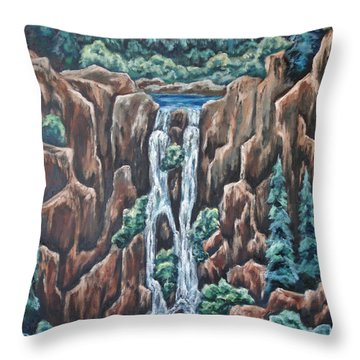 Listen To The Echoes Throw Pillow by Cheryl Pettigrew
