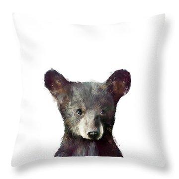 Little Bear Throw Pillow by Amy Hamilton