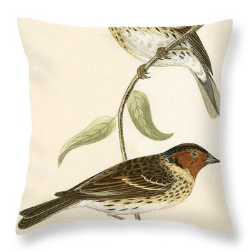 Little Bunting Throw Pillow by English School