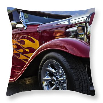 Little Deuce Coupe Throw Pillow by Skip Tribby