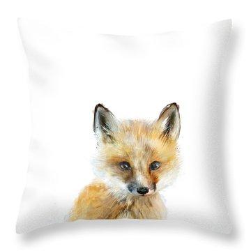 Little Fox Throw Pillow by Amy Hamilton