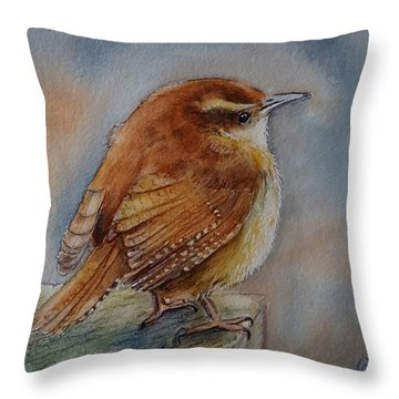 Little Friend Throw Pillow by Patricia Pushaw