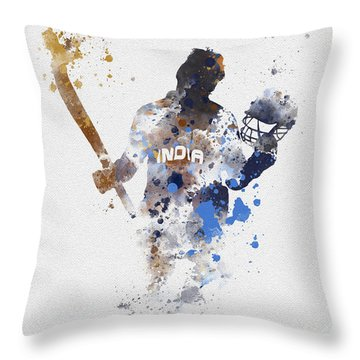 Little Master Throw Pillow by Rebecca Jenkins