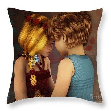 Little Romance Throw Pillow by Jutta Maria Pusl